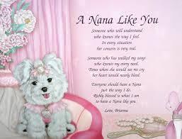 personalized nana poem birthday or christmas gift idea poems
