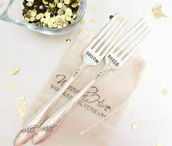 wedding silverware vintage silverware sted wedding forks groom set