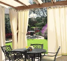 Gazebo Curtains Outdoor Outdoor Decor Gazebo Solid Grommet Top
