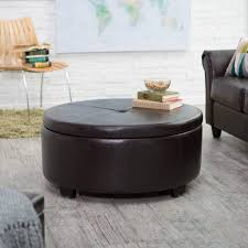 white leather coffee table black ottoman with storage s thippo