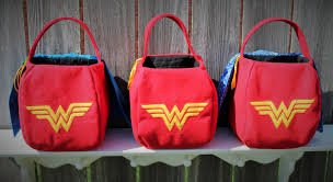 halloween bags for trick or treating wonder woman trick or treat basket halloween tote toy bag