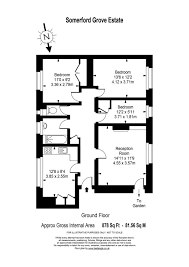 Floor Plan Scale Calculator by 3 Bedroom Property For Sale In Somerford Grove Estate London N16