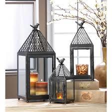 wholesale black bird iron lantern medium super wholesaler