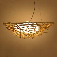 Bamboo Ceiling Light Bamboo Pendant Light 3 Light Globe Glass Shade Hanging
