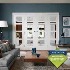 xl joinery freefold white primed room divider system leader doors