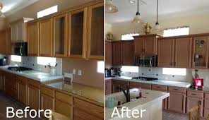 White Kitchen Cabinets Before And After Stained Cabinet With Painted Doors Staining Kitchen Cabinets