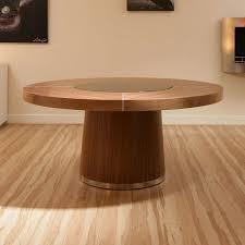 round walnut dining table large round walnut dining table glass lazy susan led lighting 1 4m