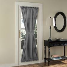 Curtains For Glass Door How To Decorate A Patio Door With Curtains The Home Redesign