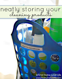 cleaning closet ideas organized cleaning products first home love life