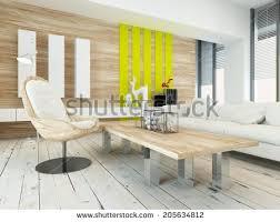yellow wood coffee table rustic wood veneer finish living room stock illustration 205634812