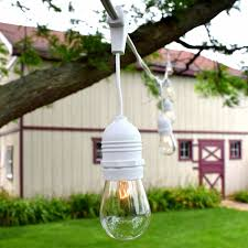 outdoor patio string lights 54 u0027 white suspended