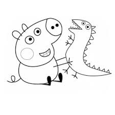 all peppa pig friends coloring page coloring sky