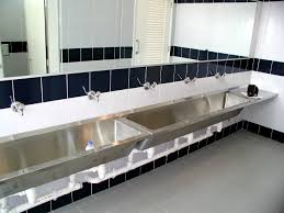 bathroom sink trough double hamal rectangular doublebowl