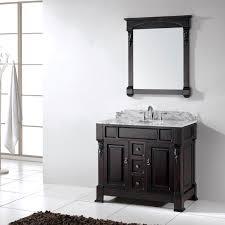 Walnut Bathroom Vanity Virtu Usa Huntshire 40 Single Bathroom Vanity Set In Walnut
