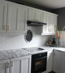 cheap kitchen tile backsplash diy cheap easy marble look counters done with contact paper