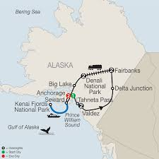 Gulf Of Alaska Map by Globus Tours Spectacular Alaska 2017