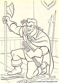 gaston ready attack disney princess 4d7a coloring pages printable