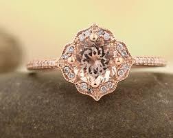 morganite engagement ring gold aaa morganite engagement ring set wedding ring set