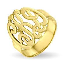 Monogram Ring Gold Signet Rings Monogram Rings Gold Signet Rings Gold Vermeil