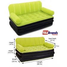 Color Sofa 5 In 1 Sofa Bed Coloured Air Lounge Telebrands