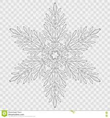big translucent crystal snowflake stock vector image 78906603