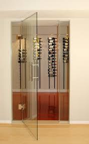 horizontal wine rack wine cellar contemporary with glass door