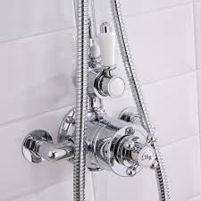traditional grand rigid riser kit with twin thermostatic shower traditional grand rigid riser kit with twin thermostatic shower faucet valve