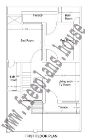 25x42 feet first floor plan plans pinterest square meter