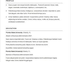 Examples Of Basic Resumes by First Rate Sample Basic Resume 3 Basic Resume Template 51 Free