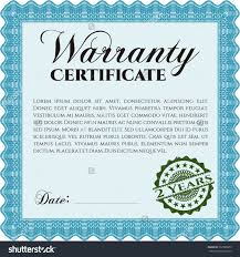 warranty certificate template 3 best and various templates design