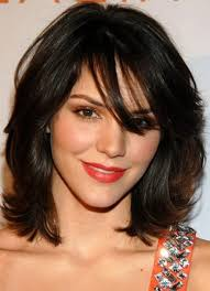 shoulder length layered longer in front hairstyle latest medium layered hairstyles with bangs medium length