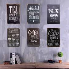 aliexpress com buy vintage metal tin signs coffee menu tea wi fi