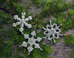 Pewter Christmas Ornaments Etsy