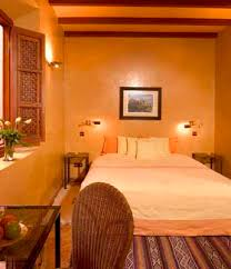 Warm Colors For Bedroom Decorating In Moroccan Style - Bedroom orange paint ideas