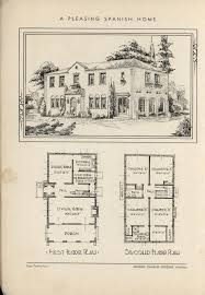 Spanish Colonial Architecture Floor Plans 1932 The Book Of Beautiful Homes Vintage House Plans 1930s