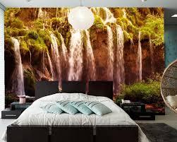 3d murals beautiful waterfall natural landscape murals living room tv