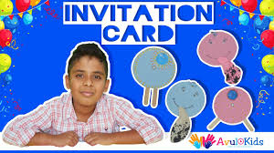 Make Your Own Invitation Cards Make Your Own Invitation Card Diy Craft For Kids Youtube