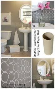 wallpaper borders bathroom ideas free modern painted wall border great for a bathroom walls