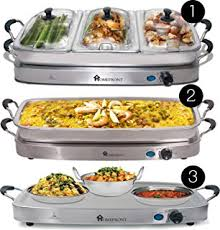 4 section buffet warmer hotplate u0026 food server hostess with 2 x