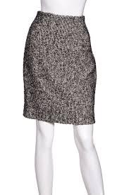 tweed skirt christian black white tweed skirt sz 6