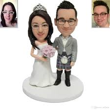 personalized wedding cake toppers personalized wedding cake topper custom made clay groom