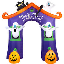 halloween inflatable ghost gemmy airblown inflatable x archway ghost house halloween