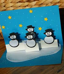 craft magic handmade xmas cards pop up snowmen