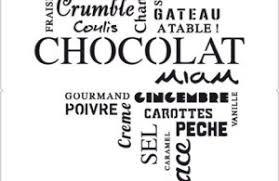 pochoir cuisine sticker cuisine