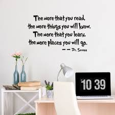 home decor art quote vinyl removable wall decal mural dr seuss