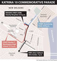 Rose Parade Route Map by Hurricane Katrina U0027s 10th Anniversary Events Art Music Theater