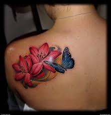 butterfly buscar con flower tattoos