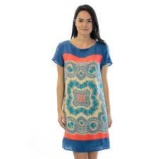 xs anthropologie meadow rue silk blue u0026 red calcada short sleeve