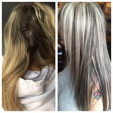 blonde hair with mocha lowlights transformation blonde with heavy dimension career modern salon