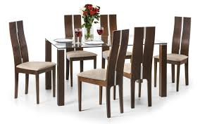 6 seater dining table and chairs julian bowen cayman beech walnut 6 seater dining table set